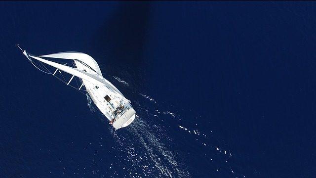 Luftfoto af sejlbåd